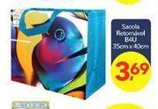 Oferta de Sacolas Retomável B4U por R$3,69