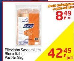 Oferta de Filezinho Sassami em Bloco Itabom por