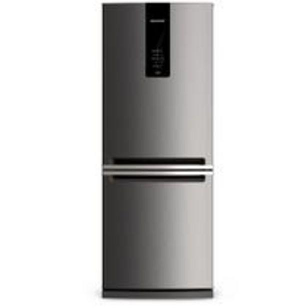 Oferta de Geladeira Brastemp Frost Free Inverse 443 litros cor Inox com Turbo Ice por R$4059