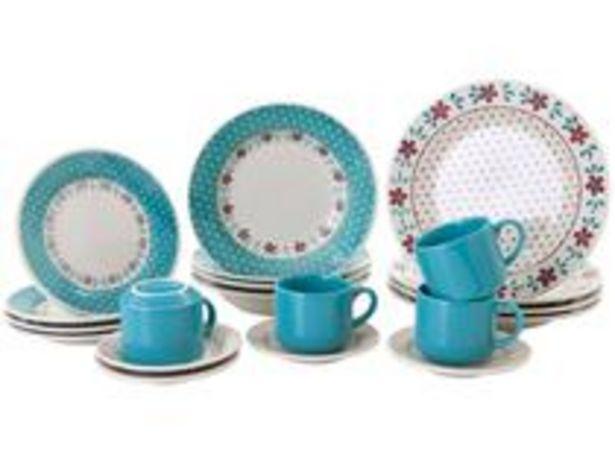 Oferta de Aparelho de Jantar Chá 20 Peças Biona Cerâmica por R$149,9