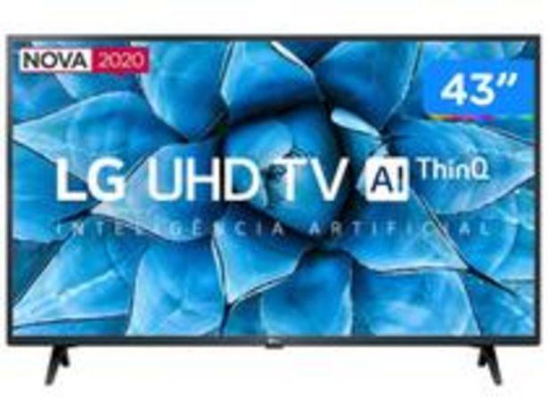 "Oferta de Smart TV UHD 4K LED IPS 43"" LG 43UN7300PSC Wi-Fi por R$2399"