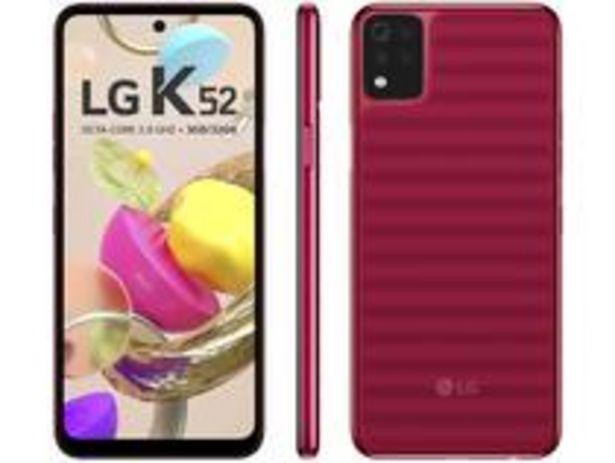 Oferta de Smartphone LG K52 64GB Vermelho 4G Octa-Core por R$1170