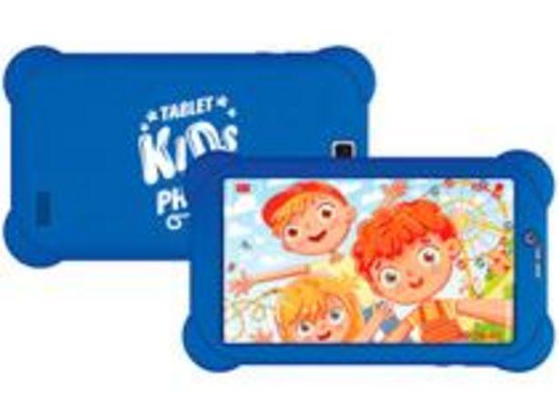 """Oferta de Tablet Infantil Philco PTB7RSG3G KIDS com Capa 7"""" por R$512,1"""