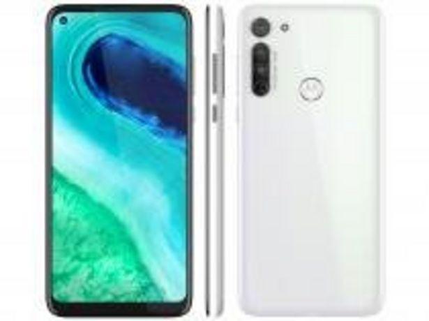 Oferta de Smartphone Motorola Moto G8 64GB Branco Prisma 4G por R$1349