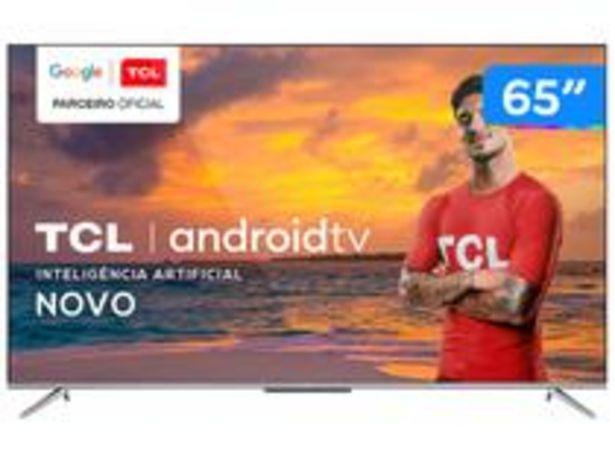 "Oferta de Smart TV 4K UHD LED 65"" TCL 65P715 Android Wi-Fi por R$4199"