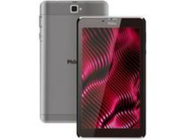 """Oferta de Tablet Philco PTB7RSG 7"""" Wi-Fi 16GB Android 9 por R$474,05"""