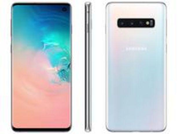 Oferta de Smartphone Samsung Galaxy S10 128GB Branco 4G por R$2789,07