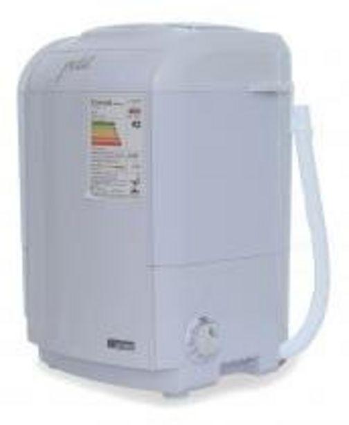 Oferta de Mini lavadora de roupas Petit branca 127v por R$299