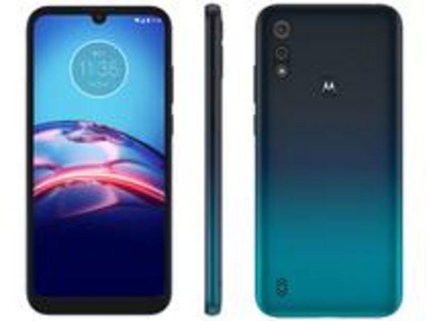 Oferta de Smartphone Motorola Moto E6S 64GB Azul Navy 4G por R$1049