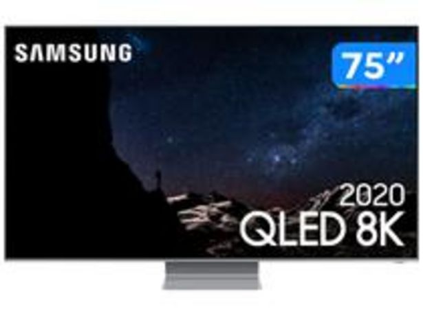 "Oferta de Smart TV 8K QLED 75"" Samsung 75Q800TA por R$16999,3"