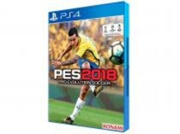 Oferta de PES 2018 para PS4 por R$59,9