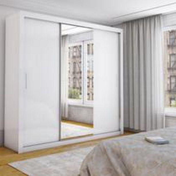 Oferta de Guarda-Roupa Isabela  3 Portas de Correr com Espelho Brancobr - Carioca Moveis por R$629,9