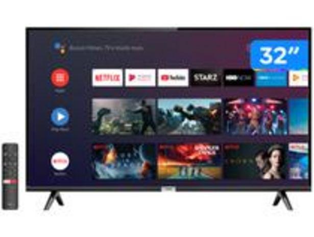 "Oferta de Smart TV LED 32"" TCL 32S6500S Android Wi-Fi por R$1349"