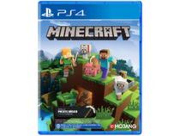 Oferta de Minecraft Starter Collection para PS4 por R$141,55