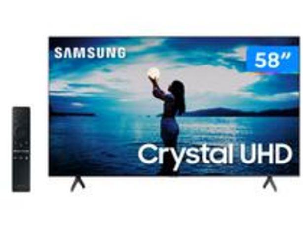 """Oferta de Smart TV 4K Crystal UHD 58"""" Samsung UN58TU7020GXZD por R$3199"""