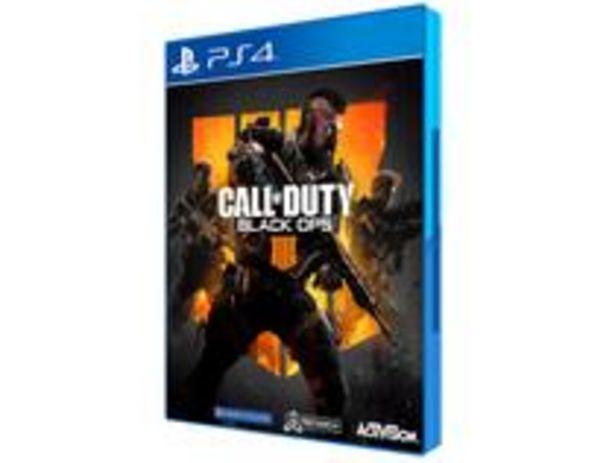 Oferta de Call of Duty Black Ops 4 para PS4 por R$35,9