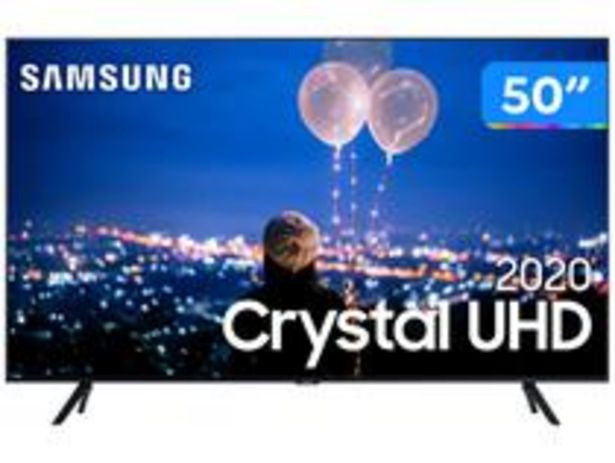 "Oferta de Smart TV Crystal UHD 4K LED 50"" Samsung por R$3324,05"