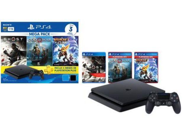 Oferta de PlayStation 4 Mega Pack V18 2021 1TB 1 Controle por R$2799,9