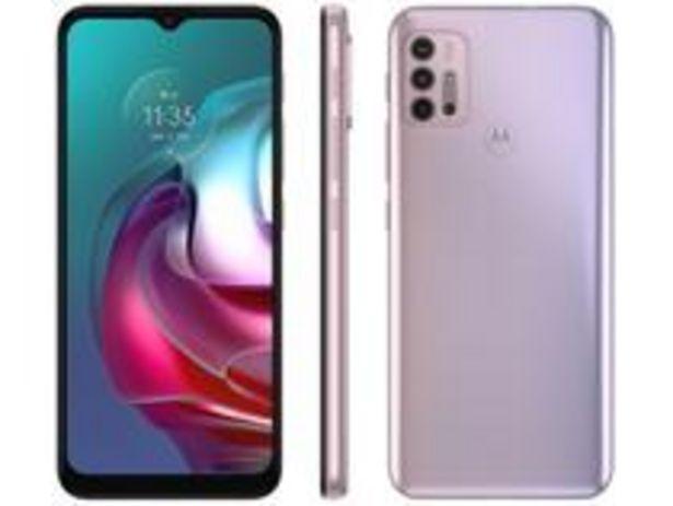 Oferta de Smartphone Motorola Moto G30 128GB White Lilac 4G por R$1241,1