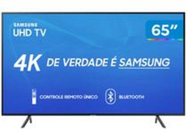 "Oferta de Smart TV 4K LED 65"" Samsung UN65RU7100 por R$3894,05"