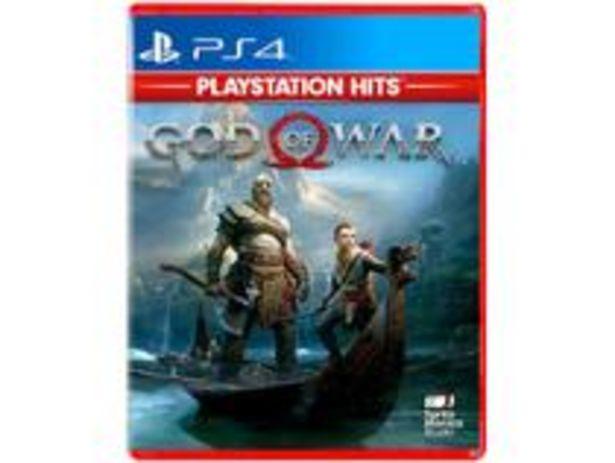 Oferta de God of War para PS4 por R$69,9