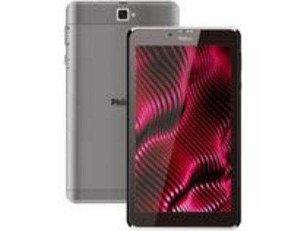 """Oferta de Tablet Philco PTB7RSG 7"""" 3G Wi-Fi 16GB por R$566,91"""