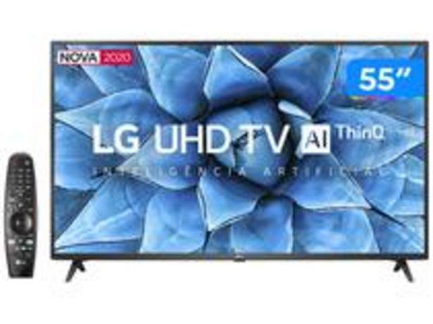 "Oferta de Smart TV UHD 4K LED IPS 55"" LG 55UN7310PSC Wi-Fi por R$3105,9"