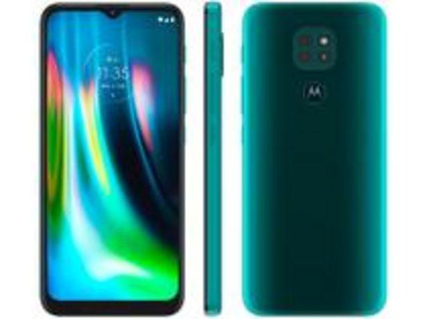 Oferta de Smartphone Motorola Moto G9 Play 64GB Verde por R$1079,1