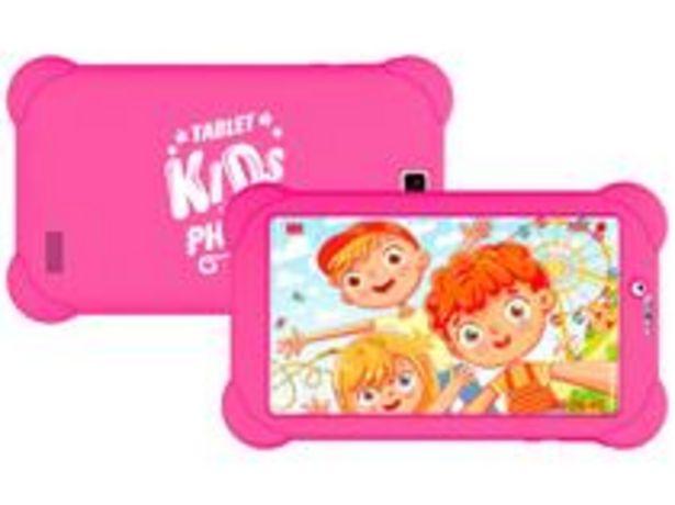 """Oferta de Tablet Infantil Philco PTB7RSG3G KIDS com Capa 7"""" por R$569,9"""