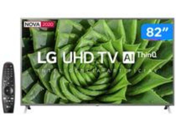 """Oferta de Smart TV UHD 4K LED 82"""" LG 82UN8000PSB Wi-Fi por R$9999"""