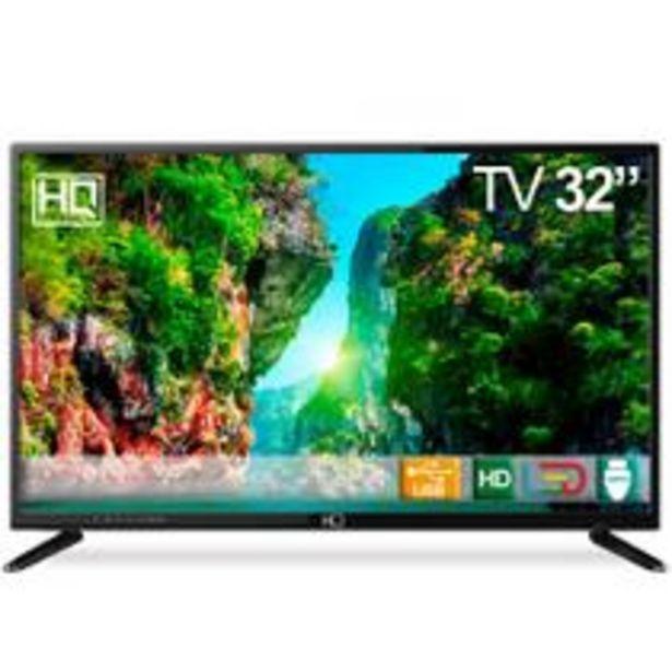 """Oferta de TV LED 32"""" HQ HQTV32 Resolução HD com Conversor Digital 3 HDMI 2 USB Recepção Digital por R$899,91"""