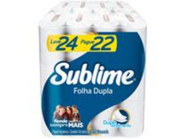 Oferta de Papel Higiênico Folha Dupla Sublime Softys por R$19,9
