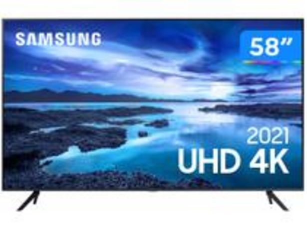 "Oferta de Smart TV 58"" Crystal 4K Samsung 58AU7700 Wi-Fi por R$4179,05"