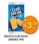 Oferta de Biscoitos Club Social por