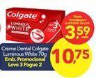 Oferta de Creme dental Colgate por R$3,59