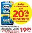 Oferta de Barbeador Gillette por