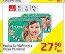 Oferta de Fralda Soft&Protect Mega Personal por R$27,9