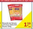 Oferta de Macarrão de sémola com ovos todeschini por R$1,59
