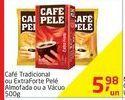 Oferta de Café Tradicional ou Extraforte Pelé Almofada ou a Vacuo 500g por R$5,98