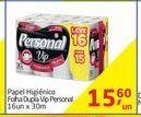Oferta de Papel higiênico folha dupla vip Personal por R$15,6