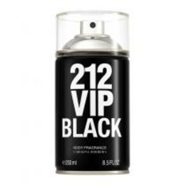 Oferta de Body Spray Carolina Herrera 212 Vip Men Black  por R$169,15
