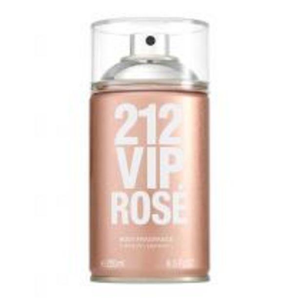 Oferta de Body Spray Carolina Herrera 212 Vip Rosé por R$169,15
