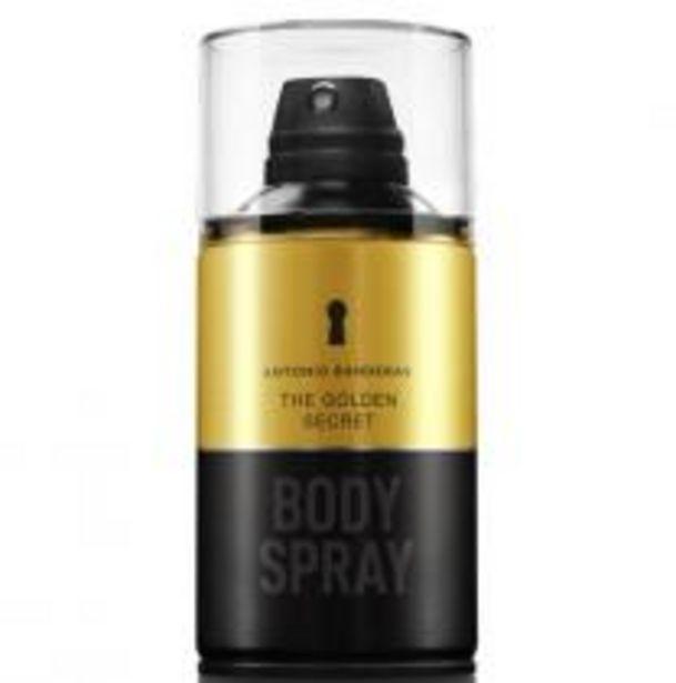 Oferta de Body Spray Antonio Banderas The Golden Secret Masculino por R$66