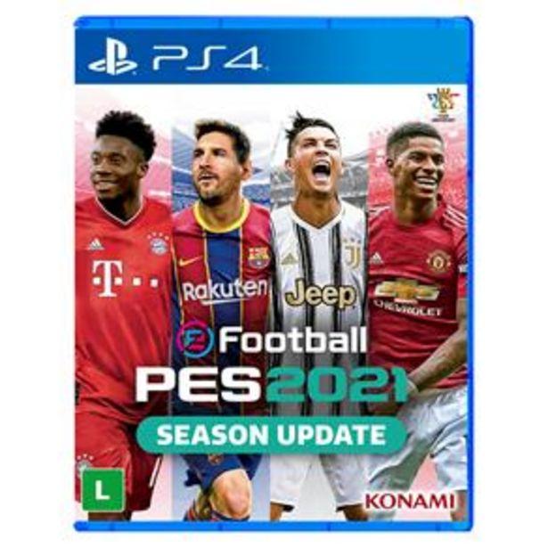 Oferta de Jogo EFootball PES 2021 - PS4 por R$99,9