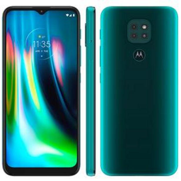 Oferta de Smartphone Motorola Moto G9 Play Verde Turquesa 64GB por R$1299