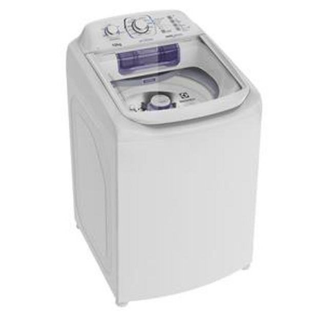 Oferta de Lavadora de Roupas Electrolux Automática LAC12 Topload com Dispenser Autolimpante e Cesto Inox 12kg - Branca por R$1498