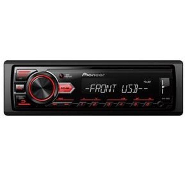 Oferta de Som Automotivo Pioneer MVH 98UB Media Receiver com Entrada USB e Rádio FM por R$279