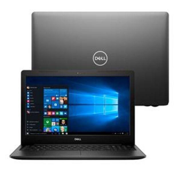 """Oferta de Notebook Dell Core i5-8265U 8GB 1TB Tela 15.6"""" Windows 10 Inspiron I15-3583-A3XP por R$3999"""
