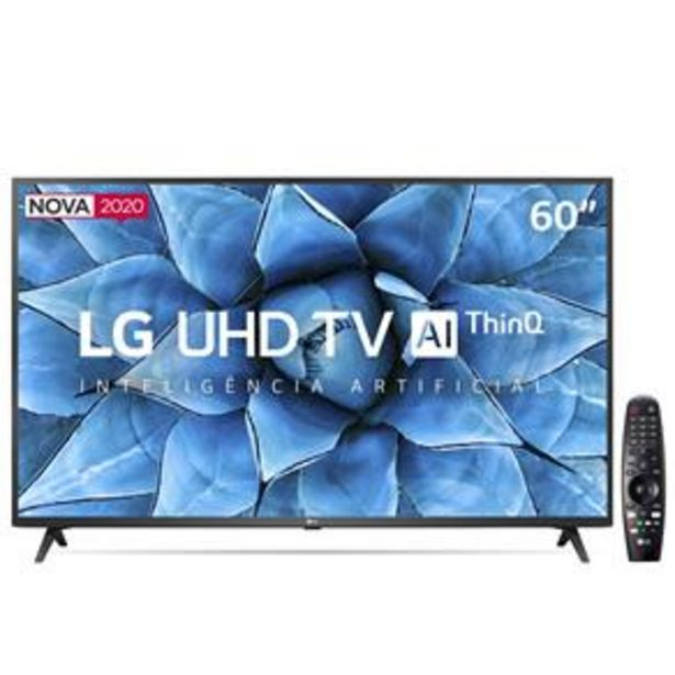 "Oferta de Smart TV LED 60"" UHD 4K LG 60UN7310PSA Wi-Fi por R$3099"