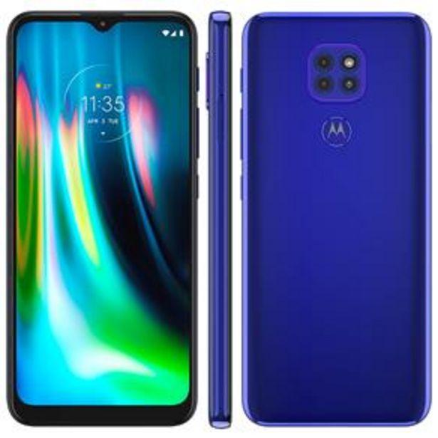 Oferta de Smartphone Motorola Moto G9 Play Azul Safira 64GB por R$1299